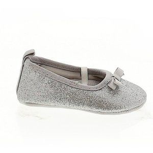 Carter's Silver Mary Janes 3-6 M EUC